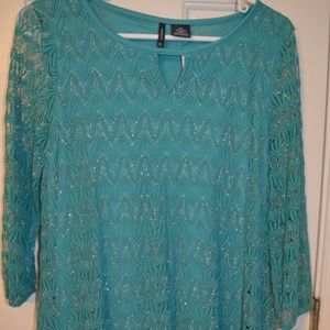 Teal New Directions Tunic